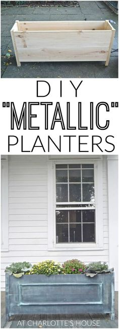 How to build wooden faux metallic zinc planters.