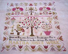 Deb's gorgeous Martha Jones sampler...LOVE!!! Must stitch soon!