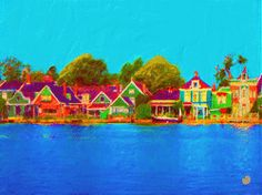 This digital painting is of Zaanse Schans, Zaandam Holland. The word kleur means colour hence the name.