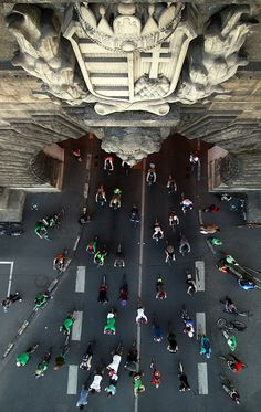 Cyclists, Budapest, Hungary by Tökéletlen Photo Voyage, Central Europe, Birds Eye View, Aerial Photography, Eastern Europe, Historical Sites, Aerial View, Places To See, Scenery