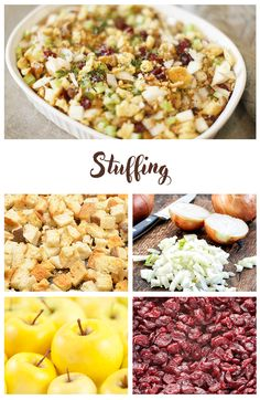 Cook this appetizing sausage and cranberry stuffing for your special Thanksgiving dinner! Stuffing Recipes, Ham Recipes, Apple Recipes, Apple Sausage, Tasty Dishes, Side Dishes, Cranberry Stuffing, Pork Ham