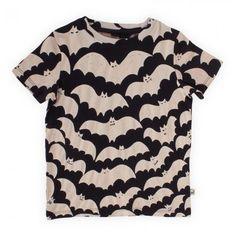 Stella McCartney Kids Black Bat Print Tee