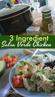 If you're looking for a delicious 3 ingredient slow cooker meal, try this yummy Salsa Verde Chicken for a simple weeknight idea!