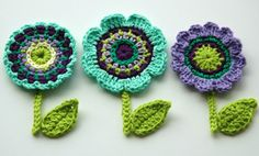 Crochet Flower Motifs  -  Crochet Garden Series.