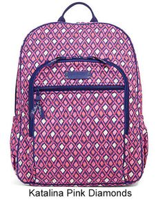 1cf0815545 This Vera Bradley Campus Backpack has school covered with the size and  organization for students.