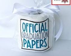 graduation gift wrapping ideas - Google Search Joke Gifts, Gag Gifts, Funny Gifts, Best Gifts, Christmas Wrapper, Christmas Gifts, Clear Gift Bags, Embroidered Toilet Paper, Toilet Paper Humor