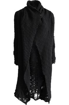 black merino wool knit cardigan from thom krom.
