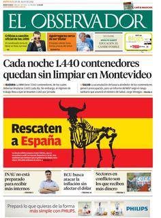 Tapa El Observador Crisis de España Por M. Morillas.