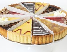 Great Assorted Tarts - This delicious tart sampler includes these scrumptious flavors Raspberry Almond, Chocolate Pecan, Cabernet Pear, Lemon Flower, Caramel Apple and Mango Splash Gourmet Gifts, Gourmet Recipes, Sweet Recipes, Birthday Cake Delivery, Online Bakery, Pastry Cake, Chocolate Desserts, Almond Chocolate, Caramel Apples