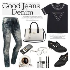 """Distressed Denim"" by wigicollection ❤ liked on Polyvore featuring Coliàc Martina Grasselli, Metrocity, Bobbi Brown Cosmetics, women's clothing, women, female, woman, misses, juniors and distresseddenim"