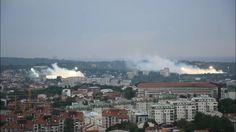 Esto pasa en Belgrado cuando Partizan y Estrella Roja juega a la vez en casa   Marca.com http://www.marca.com/futbol/futbol-internacional/2017/05/23/5924362246163f927a8b45d3.html