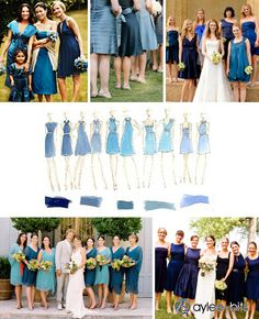 Non-matching bridesmaid dresses? after seeing these I am not sure about how I feel but I do want all my girls to be comfortable