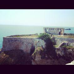 Old castle on the Adriatic Sea in Ulqin (Ulcinj), Montenegro