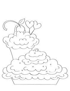 cupcakes desenho para colorir - Pesquisa Google