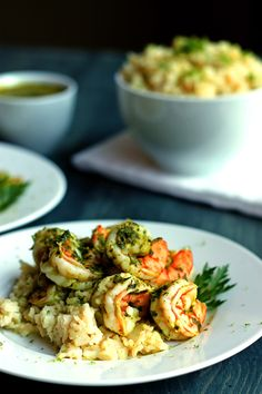 Chimichuri Shrimp with Zesty Lime Rice | http://cookswithcocktails.com