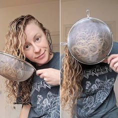 I Tried Diffusing with a Strainer, Here's What it Looked Like After - Hair Styling Wavy Curly Hair Prod - November 14 2018 at technique gives Curly Hair Styles, Curly Hair Tips, Curly Hair Care, Natural Hair Styles, Style Curly Hair, Kinky Hair, Natural Wavy Hair Cuts, Curly Hair With Wand, Products For Curly Hair