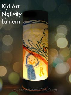 Sun Hats & Wellie Boots: Nativity Lantern - Explore the Christmas Story with this simple Upcycled Craft