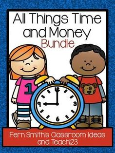 Time and Money - Math and Literacy Lessons Bundle with 15 Packets! #TPT $Paid