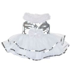 White & Silver Tulle Dress | Build-A-Bear Workshop
