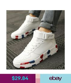 sneakers for cheap 8ed1b adf7c Athletic Mens Boys Casual Ladies Lace Up High Top Skateboarding Sneakers  Air Force Boots ebay