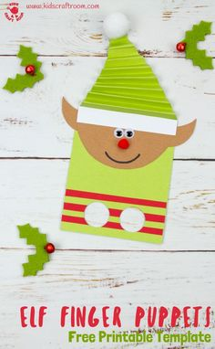 Children Holiday designs Elf on the Rack colour paper dolls