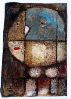 """1321 """"Thoughtful"""" by Scott Bergey Via Flickr:  15 x 11 , mixed media on cardboard. June 2011"""