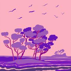 Purple island Illustrations, Island, Purple, Movie Posters, Art, Art Background, Film Poster, Illustration, Kunst