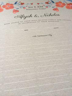 Modern Wedding Quaker Marriage Certificate art by OnceUponaPaper
