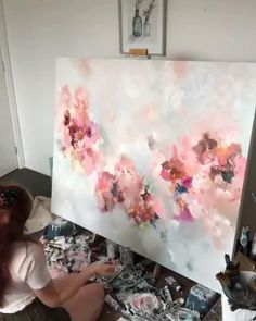 Abstract Painting Techniques, Canvas Painting Tutorials, Abstract Canvas Art, Diy Canvas Art, Art Techniques, Diy Painting, Acrylic Pouring Art, Acrylic Art, Art Projects