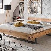 Balkenbett rustikal  Bett aus Altholz | Wohnidee | Pinterest | Altholz, Bett und Betten