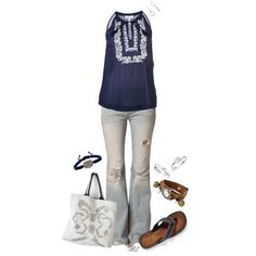 A fashion look from April 2013 featuring Joie tops, Free People jeans and Clarks flip flops. Browse and shop related looks.