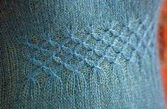 Smocking stitch - looks easy enough on the demo video from Knitting Daily