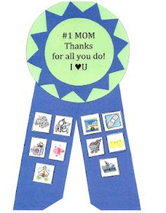 Mother's Day Booklet & Badge -  Pinned by @PediaStaff – Please Visit http://ht.ly/63sNt for all our pediatric therapy pins