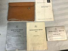Ebay Sponsored Mercedes Benz 1959 190 Sl Owner S Manual Instruction Manual Service Book Pouch Book Pouch Mercedes Benz Mercedes