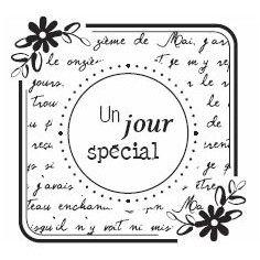 Florilèges - Tampon bois - Un Jour Special