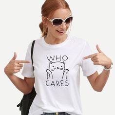 funny cat shirts OLN Cat Graphic Tees Women Funny T shirts Women 2018 Summer Vintage Tee Shirt Femme Kawaii Black White Tshirts Cotton Women Top. Similar searches: anti trump tshirts, Funny Shirts Women, Funny Tshirts, T Shirts For Women, Clothes For Women, Graphic T Shirts, Graphic Prints, Band T Shirts, Funny Shirts, Woman Clothing