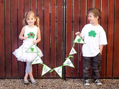 St. Patrick's Day Banner! Lucky DIY Ideas--> http://www.hgtv.com/handmade/6-easy-handmade-ideas-for-st-patricks-day/pictures/page-2.html?soc=pinterest