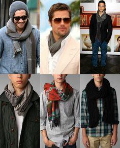 men in scarves #men #scarves #style