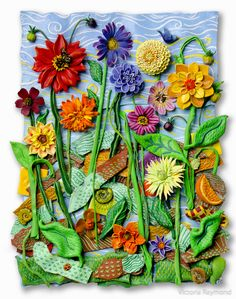 """""""The Garden of Perfect Bliss"""", Polymer Clay and Mixed Media Find Objects, Assemblage Art, Bliss, Polymer Clay, Mixed Media, Collage, Victoria, Ceramics, Vr"""