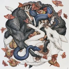 St. Louis artist Lauren Marx looks to the flora and fauna of nature and mythology to craft her illustrations. The works in this exhibit, in particular, features nature entangled in itself, moving...
