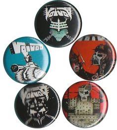6 x Fear Factory 32mm BUTTON PIN BADGES Band Industrial Heavy Metal Album Burton