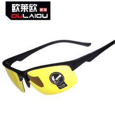 OULAIOU UV400 Unisex Cycling Glasses Outdoor Sports Windproof Eyewear Night Vision Motorcycle riding Glasses Sunglasses Goggle