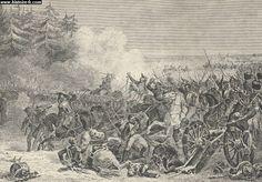 La bataille d'Eylau, illustration issue de l'ouvrage Mémoires de Napoléon, par Louis Antoine Fauvelet de Bourrienne, 1836.