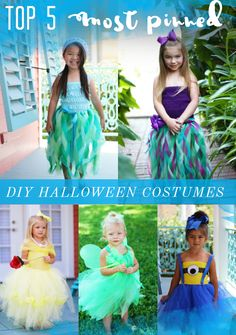 Top 5 Pinned Costumes from The Hair Bow Company. Simple DIY tutus and tutu…