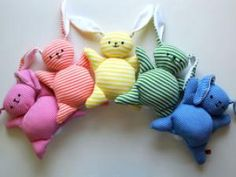 Spring Into These Easter Craft Projects Rabbit Toys, Clothes Crafts, Sewing Toys, Sewing Projects For Beginners, Easter Crafts, Easter Toys, Easter Baby, Diy Tutorial, Baby Toys