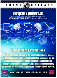 Diversity Music Group LLC | Diversity Music Group LLC | BOSON ENTERTAINMENT INC