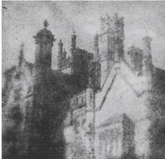 Margam Castle, photographed by William Henry Fox Talbot; one of the earliest photographs taken in Britain. via http://goldenagepaintings.blogspot.com/2013/03/margam-castle-photographed-by-william.html  http://en.wikipedia.org/wiki/Margam_Castle