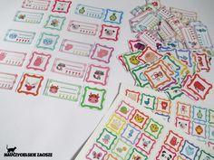 Etykietki do przedszkola, szatni, na szafki. Komplet 46 etykietek ze zwierzątkami i miejscem na imię + 46 etykietek z samymi zierzątkami + zestaw naklejek. Zapraszam na Allegro (ZaciszeKG) oraz na fanpage Nauczycielskiego zacisza na Facebooku