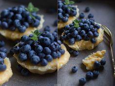 Blaubeertartelettes mit Zitronencreme