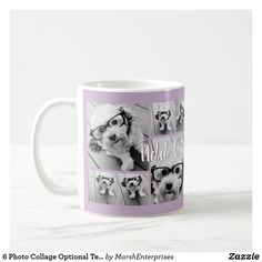 6 Photo Collage Optional Text -- CAN Edit Color Coffee Mug Best Friend Mug, Friend Mugs, Coffee Barista, Coffee Mugs, Cheap Coffee Maker, Brewing Equipment, Photography Gifts, Square Photos, Wedding With Kids